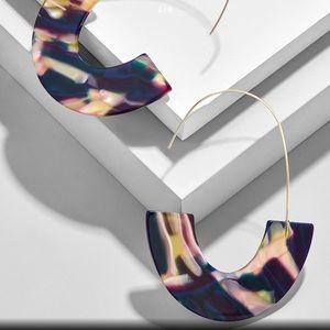 Jewelry - 2 pr/$20 Acrylic Semicircle Drop Earrings, Multi
